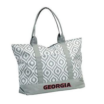Licensed Georgia Bulldogs Official NCAA Ikat Tote by Logo Chair Inc. 056836 KO_19_1