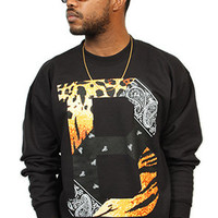 Breezy Excursion Paisley Tiger Crew Black Mens