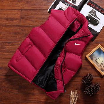 NIKE 2018 autumn and winter new trend men's down jacket coat vest Red