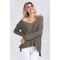 Criss Cross Back Knitted Sweater