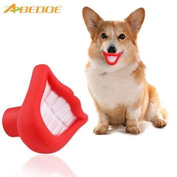 MDIGYN5 ABEDOE Small Squeaky Sound Vinyl Pet Toy Flame Blazing Red Lip Shape Fun Chew for Training Chew Sound Activity Toy Puppy Dog Pet