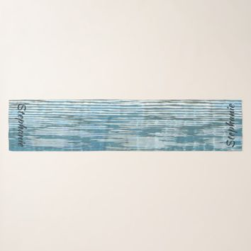 Abstract Water Reflection, Personalized with Name Scarf