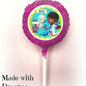 Doc McStuffins White Chocolate Covered Oreo Cookie Pops