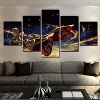 Naruto Sasauke ninja Home Decor Wall Art Canvas Painting Frame Hokage Ninjia HD Print Modern Oil Pictures 5 Panel Cartoon Anime  Poster PENGDA AT_81_8