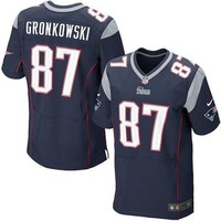 ONETOW Mens New England Patriots Rob Gronkowski Nike Navy Blue Elite Jersey