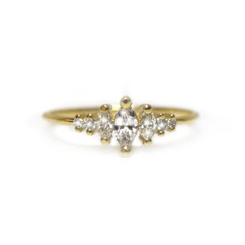 14kt Gold Diamond Ice Queen Ring