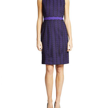 Ivanka Trump Scallop Print Dress