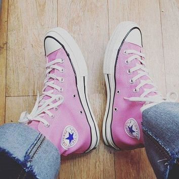 Converse Fashion Canvas Flats Sneakers Sport Shoes Pink