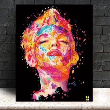 Wall Art Picture prints Marilyn Monroe on canvas Canvas painting  home decor Wall poster decoration for living room no frame