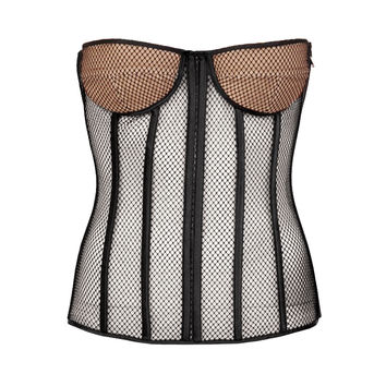 TOM FORD BLACK SILK NET CORSET
