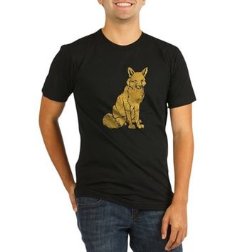 Golden Fox Organic Men's Fitted T-Shirt (dark)