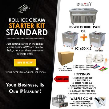 Roll Ice Cream Starter Kit Standard/Deluxe