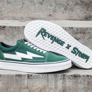 Revenge x Storm Old Skool Green Skateboarding Shoe 35-44