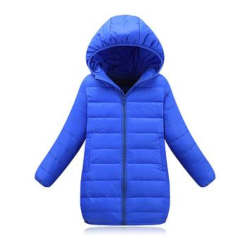 2017 Newest 2-11Y Ultra light baby Girls boys down jacket 90% duck down coat winter spring autumn warm children's long clothes