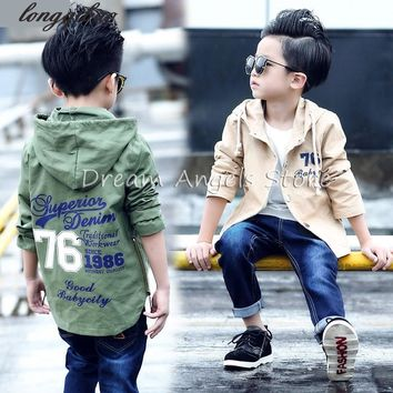 Fashion alphabet Autumn Spring Kids Jacket Boys Outerwear Coats Active Boy Windbreaker Cartoon Sport Suit For Children Kids