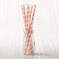 Blush Striped Straws (Set of 25)