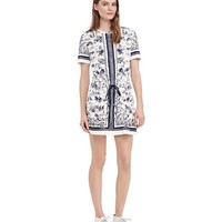 Tory Burch Drawstring Waist T-shirt Dress