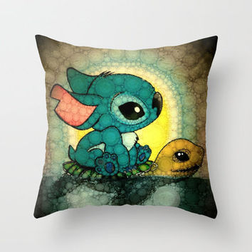 Swimming Stitch Throw Pillow by Alohalani | Society6