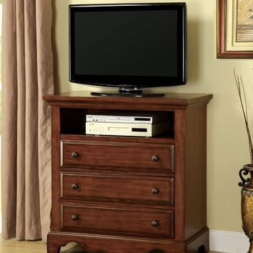 Furniture of america CM7888TV Palm coast collection transitional style light walnut finish wood tv stand media chest