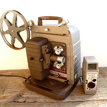1950s Projector and Video Camera  Bell and by Yesterdayand2day