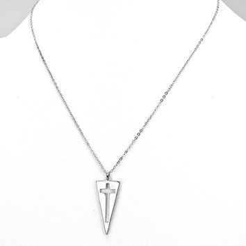 Cross Triangle Necklace