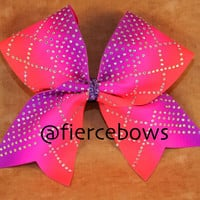 It's An Ombre Thing Rhinestone Cheer Bow