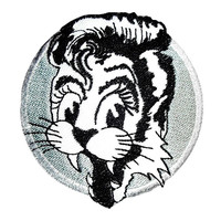 "Psychobilly Stray Cats Iron On Embroidered Patch 3""/7.8cm"