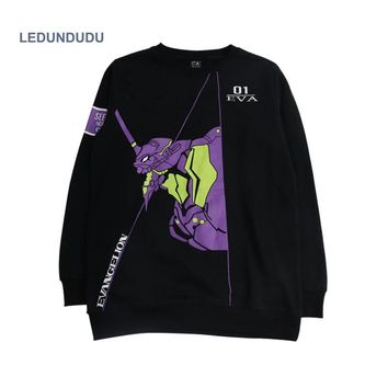 NEON GENESIS EVANGELION Cosplay Hoodies Pullover Hoody EVA 01 TEST Type Fashion Unisex Sweatshirts Anime Costumes Autumn Shirts