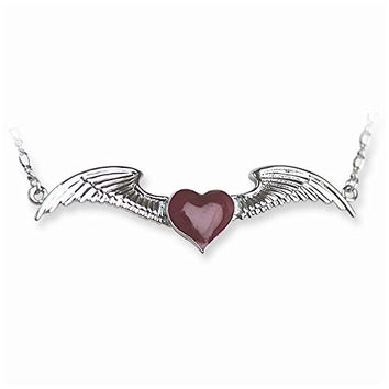 Back Belly Chains Winged Heart with Heart weight Medium (Fits 28 to 38 W