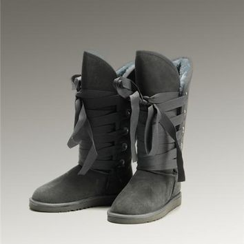 New UGG Roxy Tall 5818 Boots Grey Popular
