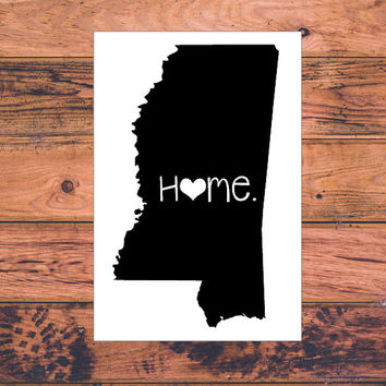Mississippi Home Decal | Mississippi State Decal | Homestate Decals | Love Sticker | Love Decal  | Car Decal | Car Stickers | 064