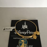 Disney Alex and Ani Merida Be Forever Brave Bangle Gold Finish New with Tags