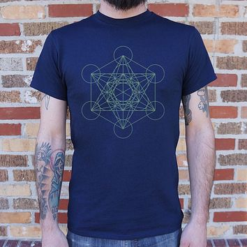 Mens Metatron's Cube Diagram T-Shirt