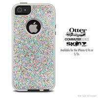 The Colorful Dotted Skin For The iPhone 4-4s or 5-5s Otterbox Commuter Case