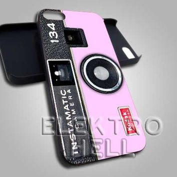 Kodak Instamatic Pink Camera - iPhone 4/4s/5 Case - Samsung Galaxy S3/S4 Case - Black or White