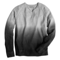 Johnston & Murphy: OMBRÉ V-NECK SWEATER - Gray/Black