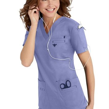 Med Couture media v-neck scrub top | Scrubs & Beyond