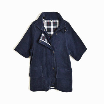 sale! 50% off - Vintage Navy Corduroy Coat / Spring Jacket - women's small