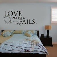 Vinyl Wall Sticker Decal Art  Love Never Fails by urbanwalls