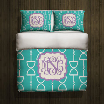 Personalized Bedding - Monogram Duvet Cover - Toddler Bedding - Twin Bedding - Queen Duvet Cover - King Bedding - Design Your Own Bedding