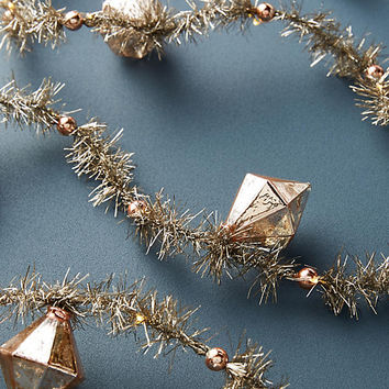 Blushing Tinsel Garland