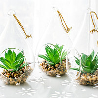 Simulation hanging landscape potted plants