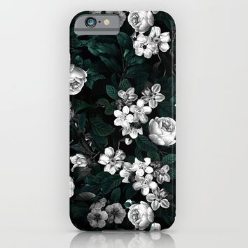 Botanical Night iPhone & iPod Case by Burcu Korkmazyurek