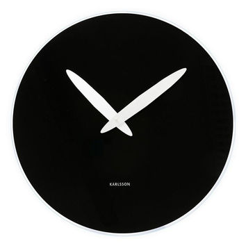 Karlsson Bold Hand Black Wall Clock