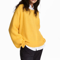Loose-knit jumper - Yellow - Ladies | H&M CA