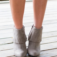 Don't Hate Me 'Cuz You Ain't Me Booties, Gray