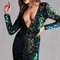 LAC Bleu Sequined Dress