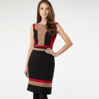 Black panelled colour block dress - Day dresses - Dresses - Women -