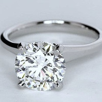 2.01ct H-VVS2 Round Diamond Engagement Ring Wedding Gift GIA certified Annivesary Bridal Jewelry