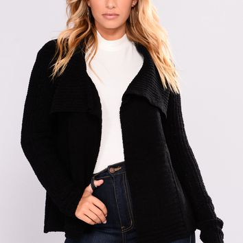 Totally Obsessing Cardigan - Black
